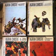 Libros de segunda mano: LOTE AGATHA CHRISTIE NAVIDADES TRAGICAS ENIGMATICO MR. QUIN PUERTA DEL DESTINO ELEFANTES RECORDAR. Lote 255537375