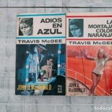 Libros de segunda mano: JOHN D MAC DONALD TRAVIS MC GEE ADIOS EN AZUL LA MORTAJA COLOR NARANJA CABALLO NEGRO CRIMEN. Lote 261581375