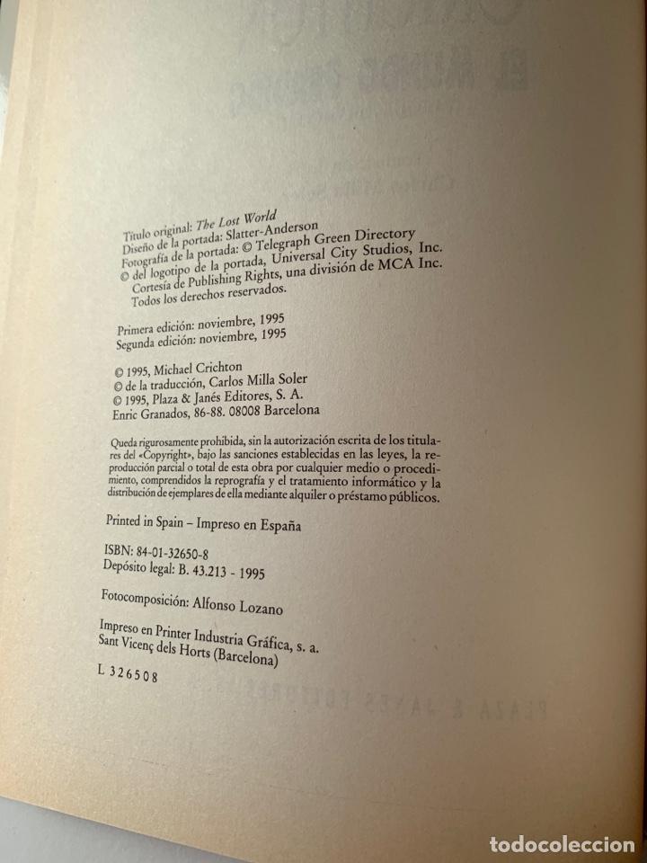 Libros de segunda mano: LIBRO El Mundo Perdido (JURASSIC PARK 2) PLAZA & JANÉS 1995 TAPA DURA parque jurásico 2 - Foto 5 - 262036505