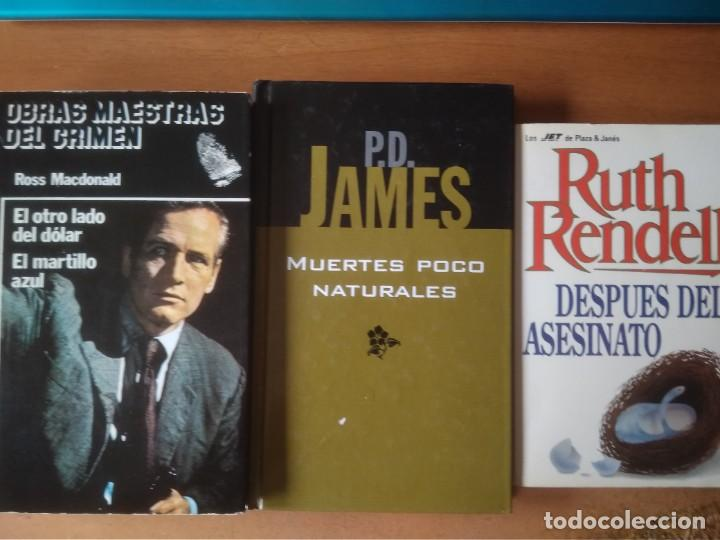 LOTE 3 NOVELAS POLICIACAS; ROSS MCDONALD, RUTH RENDELL, P.D.JAMES (Libros de segunda mano (posteriores a 1936) - Literatura - Narrativa - Terror, Misterio y Policíaco)
