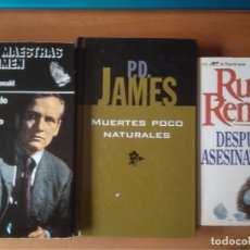 Livros em segunda mão: LOTE 3 NOVELAS POLICIACAS; ROSS MCDONALD, RUTH RENDELL, P.D.JAMES. Lote 262048260