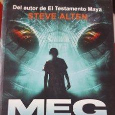 Libros de segunda mano: MEG - STEVE ALTEN - AUTOR DEL TESTAMENTO MAYA - THRILLER - PRIMERA EDICIÓN 1998. Lote 264176284