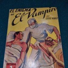 Libros de segunda mano: EL ENIGMA DE EL VAMPIRO. Lote 264722574