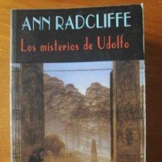 Libros de segunda mano: LOS MISTERIOS DE UDOLFO, ANN RADCLIFFE, EL CLUB DIÓGENES, VALDEMAR. Lote 275753368