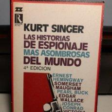 Libros de segunda mano: HISTORIAS DE ESPIONAJE ( ERNEST HEMINGWAY, SOMERSET MAUGHAM, EDGAR WALLCE, PEARL BUCK, JOSEPH CONRAD. Lote 276556968