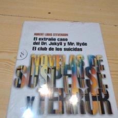 Libros de segunda mano: C-10 LIBRO NUEVO PRECINTADO EL EXTRAÑO CASO DEL DR JEKYLL Y MR HYDE EL CLUB DE LOS SUICIDAS ROBERT. Lote 276580798