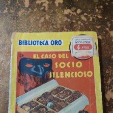 Libros de segunda mano: BIBLIOTECA DE ORO N° 339: EL CASO DEL SOCIO SILENCIOSO (ERLE STANLEY GARDNER) (ED. MOLINO). Lote 277845088