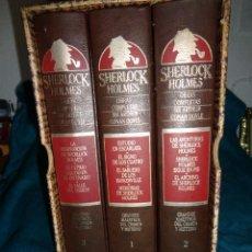 Libri di seconda mano: SIR ARTHUR CONAN DOYLE. SHERLOCK HOLMES. OBRAS COMPLETAS. CAJA CON 3 VOLUMENES. ORBIS, 1987. Lote 278592448