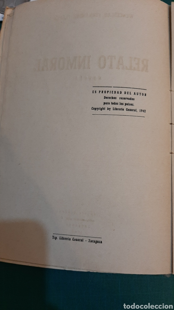 Libros de segunda mano: 1942 RELATO INMORAL NOVELA FERNÁNDEZ FLORES - Foto 3 - 286269168