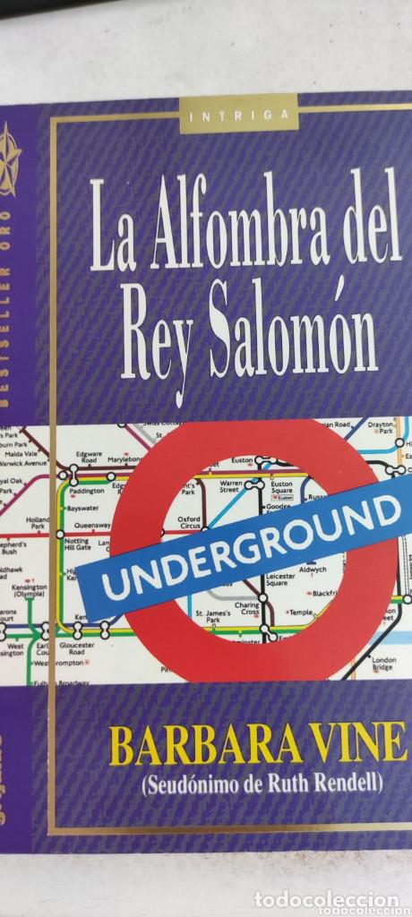 LA ALFOMBRA DEL REY SALOMÓN. BÁRBARA VINE. SEUDÓNIMO DE RUTH RENDEL. GRIJALBO. INTRIGA. (Libros de segunda mano (posteriores a 1936) - Literatura - Narrativa - Terror, Misterio y Policíaco)