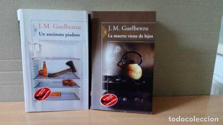 LOTE DE 2 NOVELAS DE JOSE Mª GUELBENZU (Libros de segunda mano (posteriores a 1936) - Literatura - Narrativa - Terror, Misterio y Policíaco)