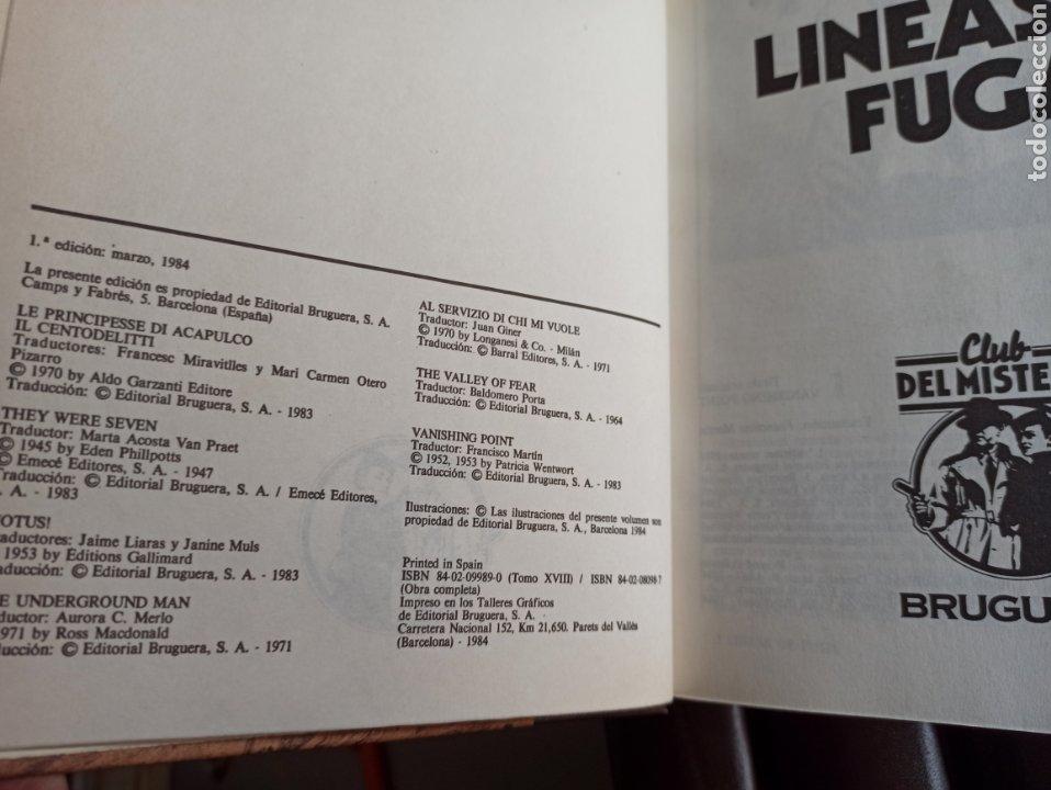 Libros de segunda mano: EL CLUB DEL MISTERIO, TOMOS 1 A 18,, COLECCIÓN BRUGUERA, CASI COMPLETA FALTA EL VOL. 19. - Foto 6 - 287667793
