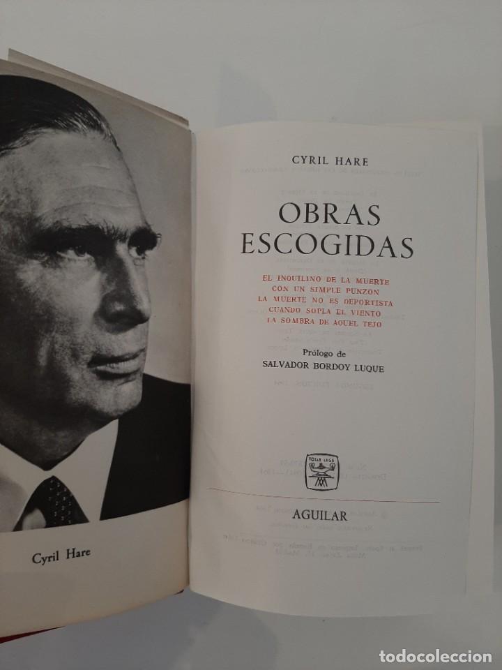 Libros de segunda mano: NOVELAS ESCOGIDAS. CYRIL HARE. AGUILAR. COLECCIÓN EL LINCE ASTUTO. 1964 - Foto 4 - 288146473