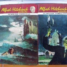 Libros de segunda mano: ALFRED HITCHCOCK PRESENTA: SUSPENSE SOBRENATURAL - EDITORIAL MOLINO, 1975.TOMOS 1 Y 2. Lote 288700723