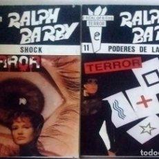 Libros de segunda mano: 3 NOVELAS RALPH BARBY ESCALOFRÍOS DE TERROR Nº 11-12-13- NUEVAS 1988. Lote 289624943