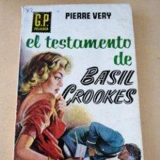 Libros de segunda mano: EL TESTAMENTO DE BASIL CROOKES (PIERRE VERY). Lote 294513633