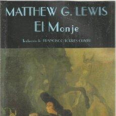 Libros de segunda mano: MATTHEW G. LEWIS. EL MONJE. VALDEMAR EL CLUB DIOGENES. Lote 295912388