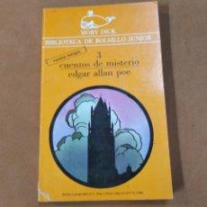 Libros de segunda mano: CUENTOS DE MISTERIO - EDGAR ALLAN POE - BIBLIOTECA DE BOLSILLO JUNIOR , COLECCIÓN MOBY DICK. Lote 297178198