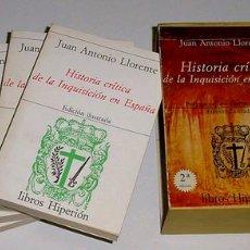 Libros de segunda mano: HISTORIA CRÍTICA DE LA INQUISICION EN ESPAÑA - LLORENTE, JUAN ANTONIO.- . Lote 26537845