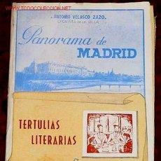 Libros de segunda mano: TERTULIAS LITERARIAS - PANORAMA DE MADRID - A. VELASCO ZAZO . Lote 13638912