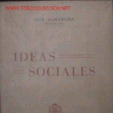 Libros de segunda mano: 1952: LEON, IDEAS SOCIALES. Lote 2881023
