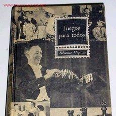 Libros de segunda mano: VERDEJO, CARMIÑA - JUEGOS PARA TODOS. Lote 26892014