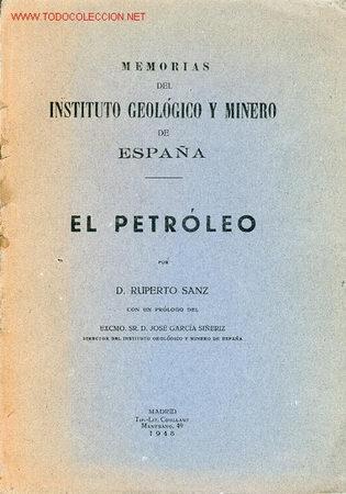 MEMORIAS DEL INSTITUTO GEOLÓGICO Y MINERO DE ESPAÑA. EL PETRÓLEO (Libros de Segunda Mano - Ciencias, Manuales y Oficios - Otros)