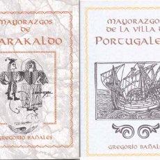 Libros de segunda mano: MAYORAZGOS DE BARAKALDO Y LA VILLA DE PORTUGALETE. Lote 15897