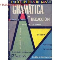 Libros de segunda mano: 1961. GRAMATICA. ESTUDIO DE LA LENGUA. . Lote 355805