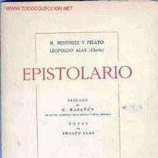 Libros de segunda mano: MENENDEZ PELAYO AZORÍN EPISTOLARIO. Lote 27362713
