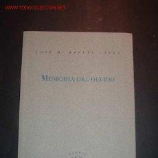 Libros de segunda mano: MEMORIA DEL OLVIDO DE JOSE MARIA GARCIA LOPEZ,1994. Lote 16351659