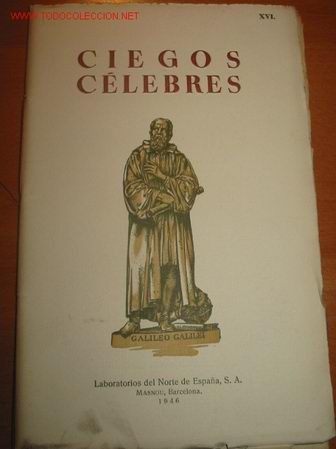 CIEGOS CELEBRES. 1.946. OFTALMOLOGIA (Libros de Segunda Mano - Ciencias, Manuales y Oficios - Otros)