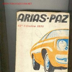 Libros de segunda mano: ARIAS-PAZ. Lote 26339803