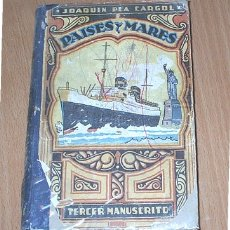 Libros de segunda mano: JOAQUIN PLA CARGOL.PAISES Y MARES.TERCER MANUSCRITO.. Lote 6095606