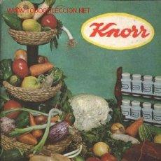 Libros de segunda mano: RECETARIO KNORR. 1966. Lote 14635772