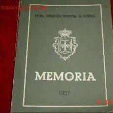 Libros de segunda mano: MEMORIA 1957. Lote 506125