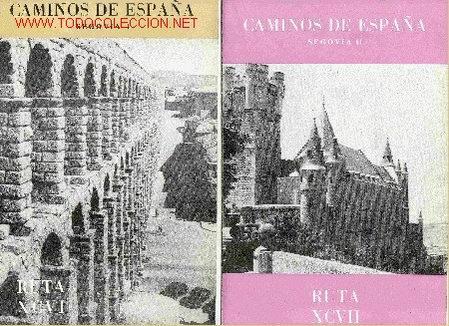 SEGOVIA. 2 FASCÍCULOS, 1958. (CAMINOS DE ESPAÑA). CYL. SEGOVIA. (Libros de Segunda Mano - Historia - Otros)