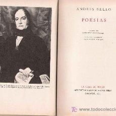 Libros de segunda mano: POESÍAS / ANDRÉS BELLO. Lote 21178250