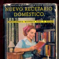 Libros de segunda mano: NUEVO RECETARIO DOMÉSTICO.8355 RECETAS PARA TODAS LAS NECESIDADES DE LA VIDA PRÁCTICA.1306 PÁGS.1966. Lote 26404796