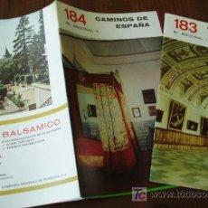 EL ESCORIAL 2 librilloS CAMINOS de ESPAÑA Guia c.1958
