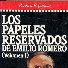 Libros de segunda mano: LOS PAPELES ESERVADOS. 2 VOLS.. Lote 5932807