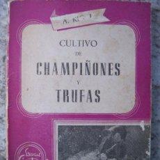 Libros de segunda mano: CULTIVO DE CHAMPIÑONES Y TRUFAS , POR ALEJO RIGAU, ED SINTES 1961. Lote 20317162