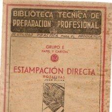 Gebrauchte Bücher - Estamapacion directa. Rotativas / Juan Oller. Barcelona : F. Gonzalez Rojas, 1943. 22x15 cm. 62 p - 5367174