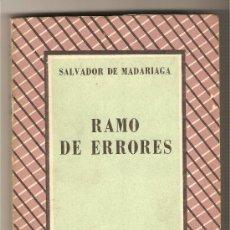 Libros de segunda mano: RAMO DE ERRORES .-SALVADOR DE MADARIAGA. Lote 13287707