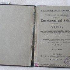 Libros de segunda mano: ENSEÑANZA DEL SOLFEO. Lote 22943673