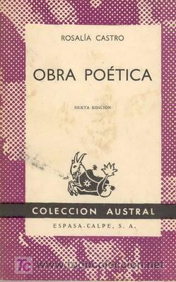 OBRA POÉTICA DE ROSALÍA DE CASTRO (Libros de Segunda Mano (posteriores a 1936) - Literatura - Otros)