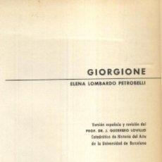 Libros de segunda mano: GIORGIONE (A/ ART- 129). Lote 3856680