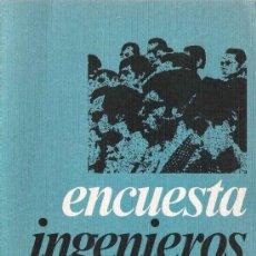 Libros de segunda mano: INSTITUTO CATÓLICO DE ARTES E INDUSTRIAS. COLEGIO NACIONAL DE INGENIEROS: ENCUESTA INGENIEROS - 1976. Lote 21131666