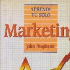 Libros de segunda mano: APRENDE TU SOLO MARKETING (MADRID, 1992). Lote 20551382
