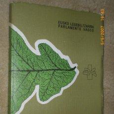 Libros de segunda mano: CATALOGO DE LIBROS: FUERO VASCO. FORUEI BURUZKO LIBURUEN ERROLDEA. . Lote 24926052